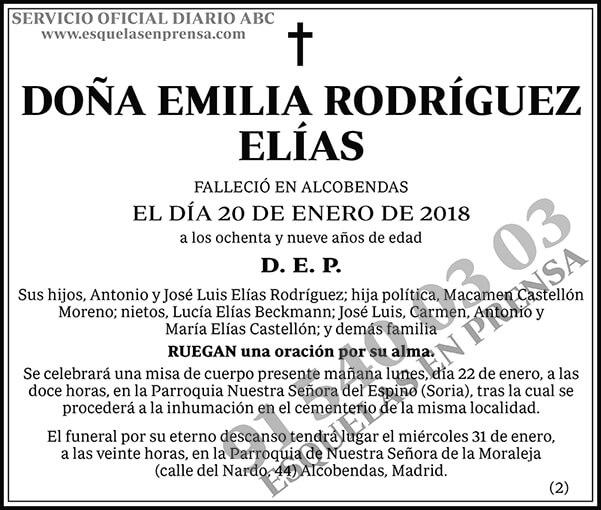 Emilia Rodríguez Elías